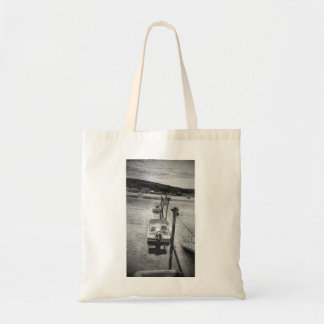 """""""Dockside"""" Boothbay Harbor Maine Budget Tote"""