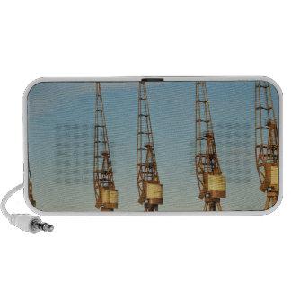 Dockside cranes PC speakers