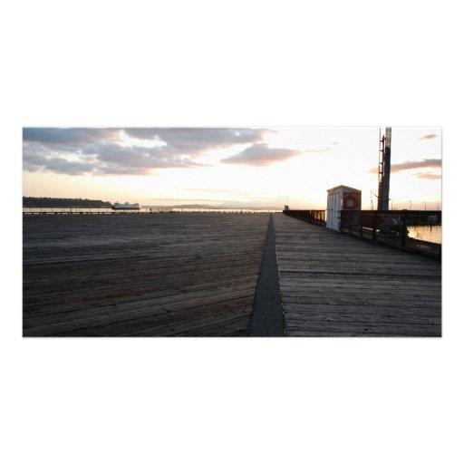 DockStretchSunset041609 Custom Photo Card