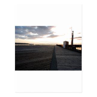 DockStretchSunset041609 Tarjetas Postales