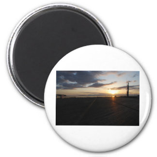 DockStretchSunset041609a Fridge Magnet