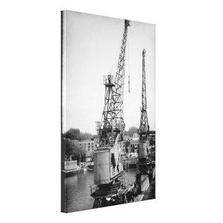 Dockyard Cranes Fallen Silent Canvas Print