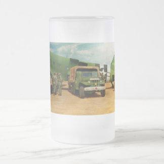Doctor - 1942 - Delivering blood Frosted Glass Beer Mug
