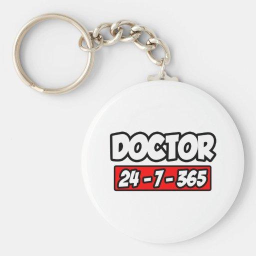 Doctor 24-7-365 keychain