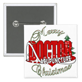 DOCTOR ACUPUNCTURE MERRY CHRISTMAS PIN