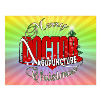 DOCTOR ACUPUNCTURE MERRY CHRISTMAS POSTCARD
