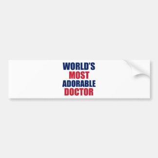 Doctor adorable pegatina para coche