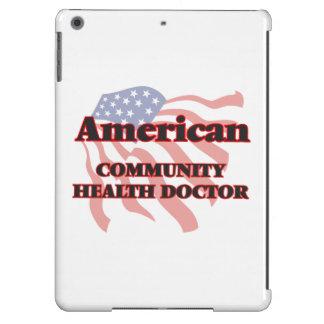 Doctor americano de la salud de la comunidad funda para iPad air