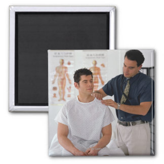 Doctor and patient 2 inch square magnet