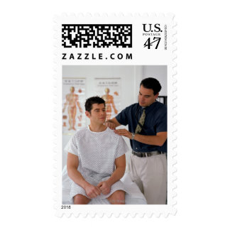 Doctor and patient postage