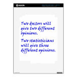 Doctor and statistician iPad 3 decals