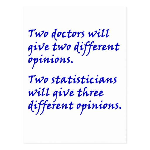 Doctor and statistician post card