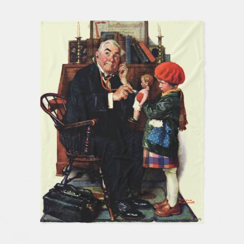 Doctor and the Doll Fleece Blanket