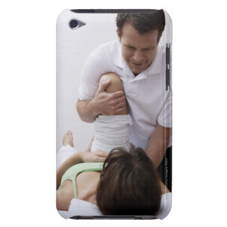 Doctor applying treatment to patient iPod touch case