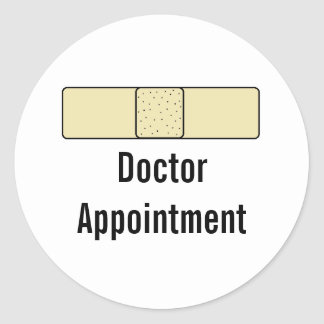 """Doctor Appointment"" Calendar Stickers"