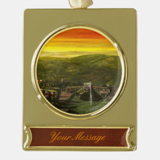 Doctor - At the end of a day Gold Plated Banner Ornament