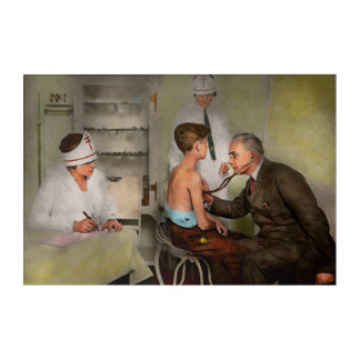 Doctor - At the pediatricians office 1925 Acrylic Wall Art