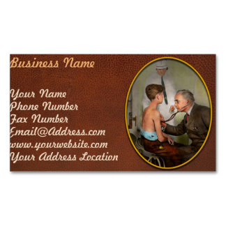 Doctor - At the pediatricians office 1925 Business Card Magnet