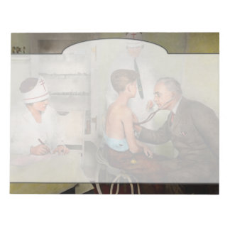 Doctor - At the pediatricians office 1925 Notepad
