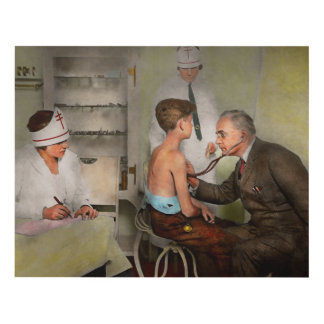 Doctor - At the pediatricians office 1925 Panel Wall Art