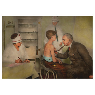 Doctor - At the pediatricians office 1925 Wood Poster