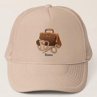 Doctor bag custom name hat