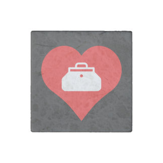Doctor Bags Symbol Stone Magnet