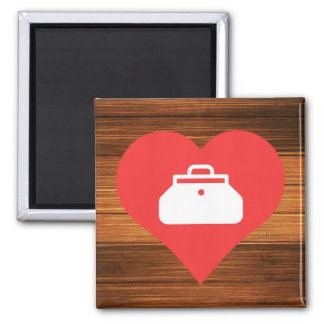 Doctor Bags Symbol 2 Inch Square Magnet