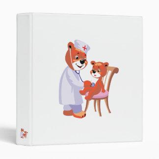 doctor bear tending patient vinyl binders