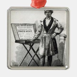 Doctor Bokanky, the street herbalist Metal Ornament