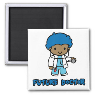 Doctor (boy) 2 inch square magnet