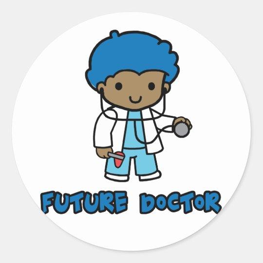 Doctor (boy) classic round sticker
