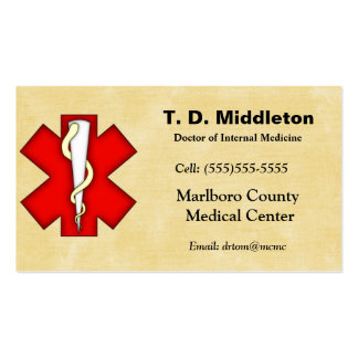 Doctor Business and Appointment Card Business Card Templates
