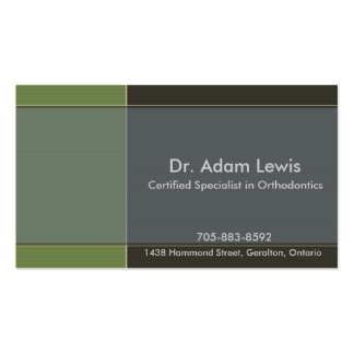 Doctor Business Card - Brown, Blue, Green