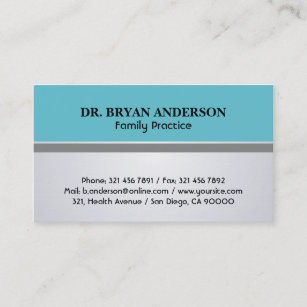 General Practice Doctor Business Cards Templates
