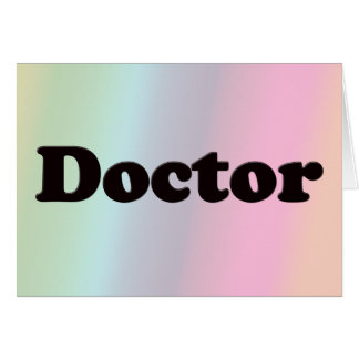 Doctor Card