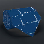 """Doctor Cardiologist cardiogram ECG pattern Neck Tie<br><div class=""""desc"""">Cardiogram ecg pattern for cardiologist doctor tie. Customize and change the background color,  if desired. Design printed on both side of the tie. An electrocardiogram (ECG / EKG) is an electrical recording of the heart and is used in the investigation of heart disease.</div>"""
