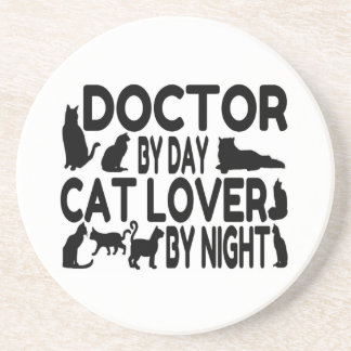 Doctor Cat Lover Drink Coaster