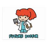 Doctor (chica) tarjeta postal