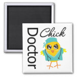 Doctor Chick 2 Inch Square Magnet