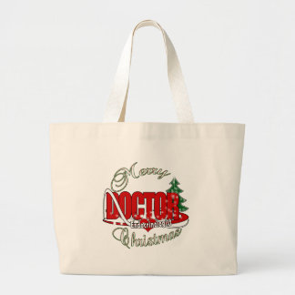 DOCTOR CHRISTMAS Endocrinologist Large Tote Bag