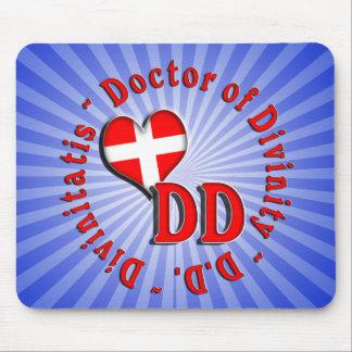 DOCTOR CIRCULAR DEL LOGOTIPO DE LAS SIGLAS DE LA D ALFOMBRILLAS DE RATON