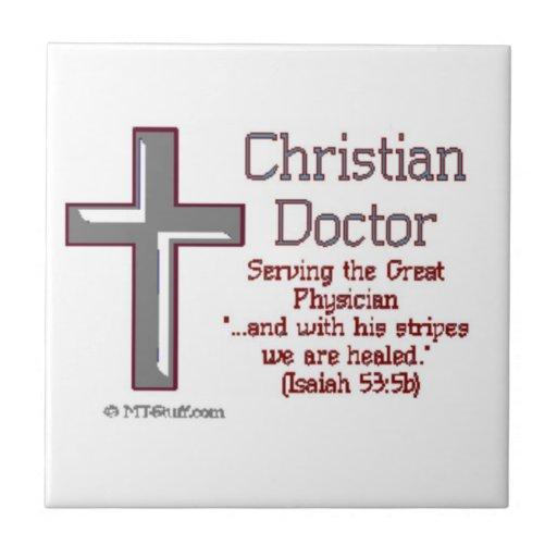 Doctor cristiano azulejo cuadrado pequeño