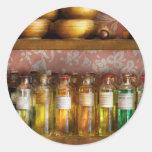 Doctor - curaciones coloridas etiqueta redonda