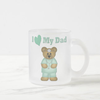 Doctor Dad Frosted Glass Coffee Mug