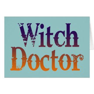 Doctor de bruja tarjeta de felicitación