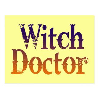 Doctor de bruja tarjetas postales