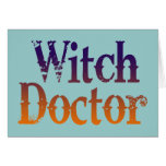 Doctor de bruja tarjeton