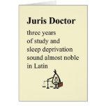 Doctor de Juris - un poema divertido de la Tarjeta De Felicitación