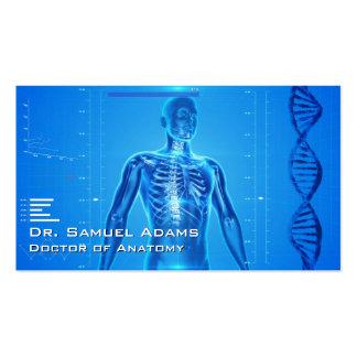 Doctor de la anatomía tarjetas de visita